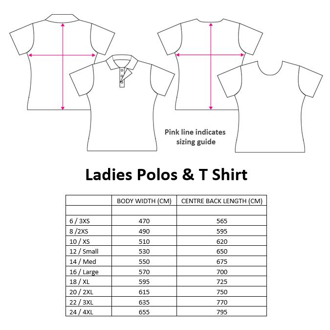 ladies-shirt-sizing-chart | Pine Valley Pistol Club